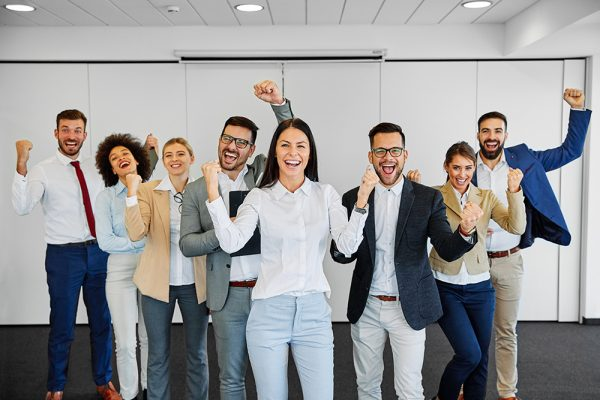 businessman business team businesswoman success meeting celebrat